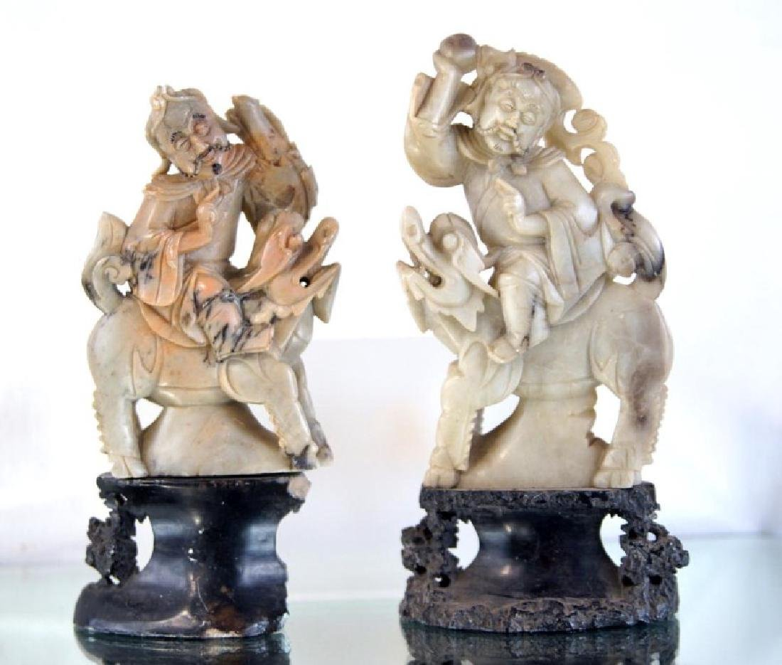 Pair of old Chinese Jadeite figures