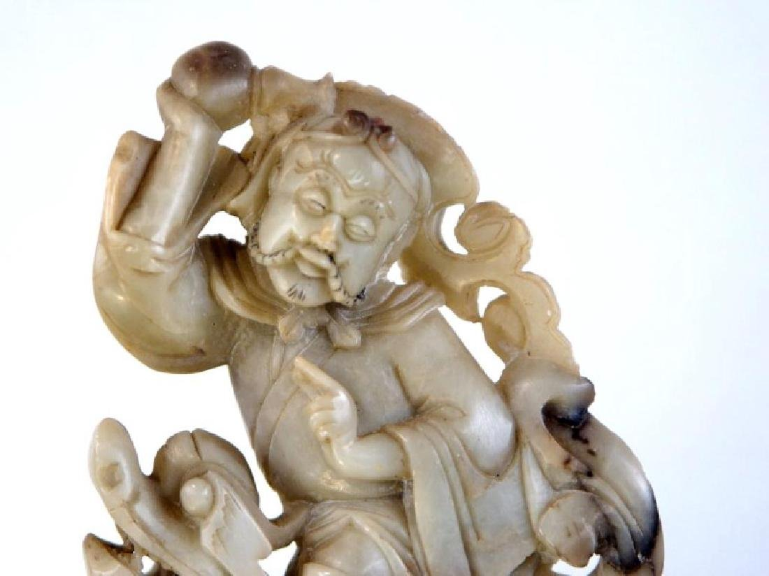 Pair of old Chinese Jadeite figures - 2