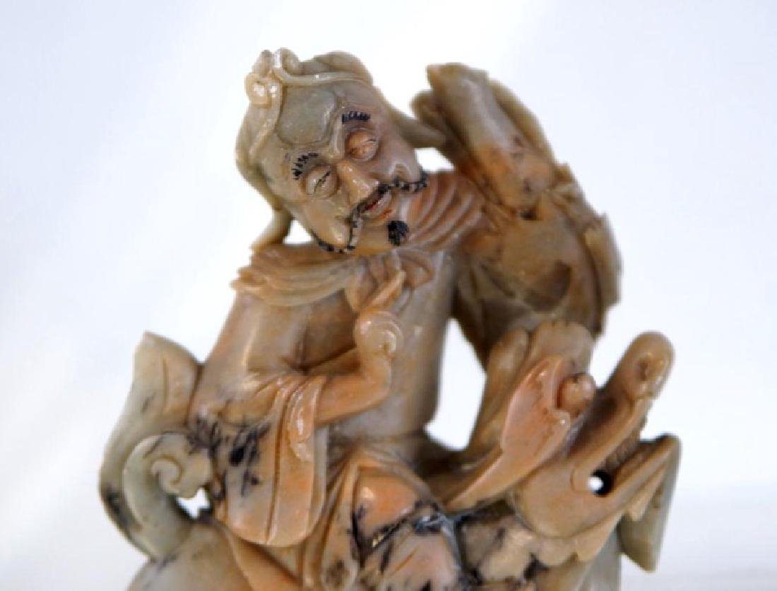 Pair of old Chinese Jadeite figures - 3