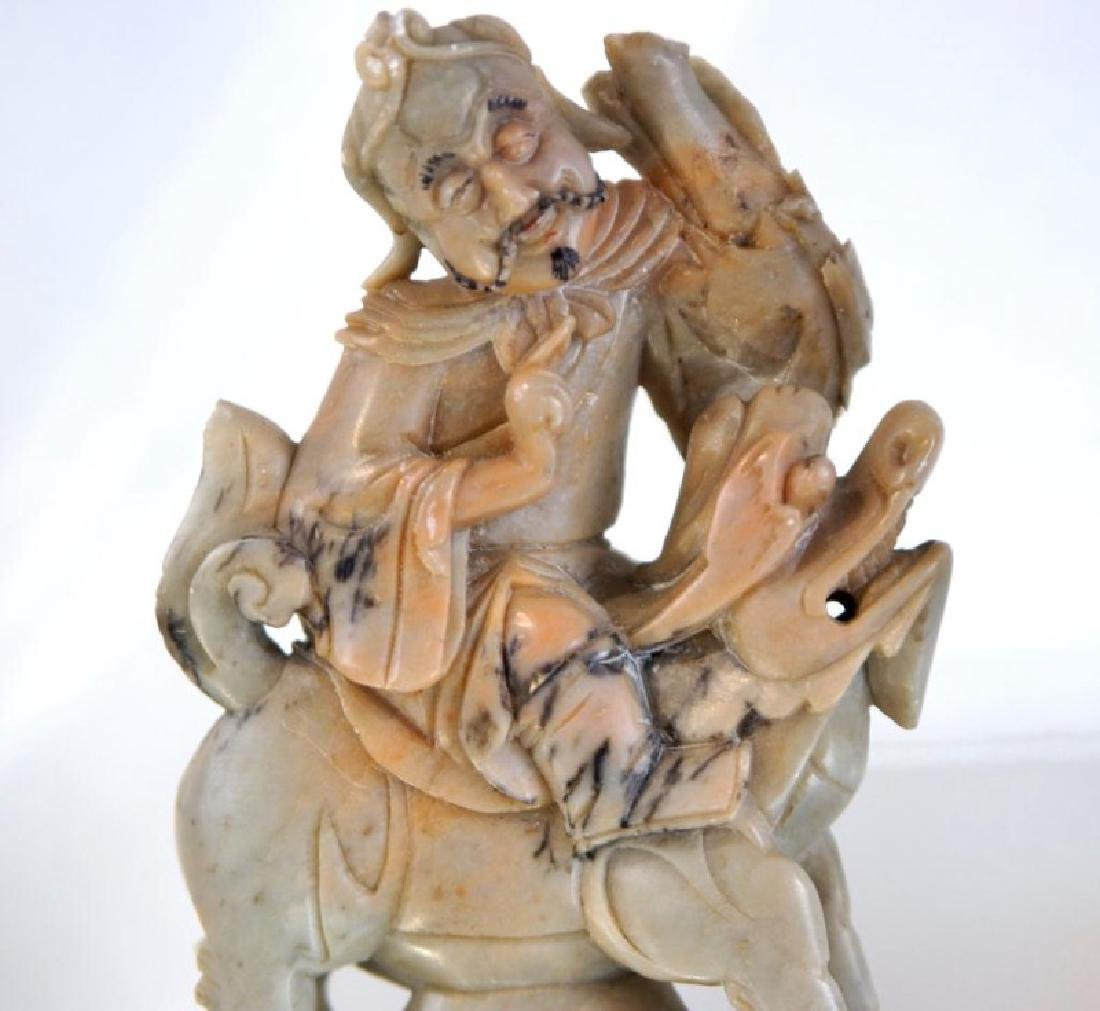Pair of old Chinese Jadeite figures - 4