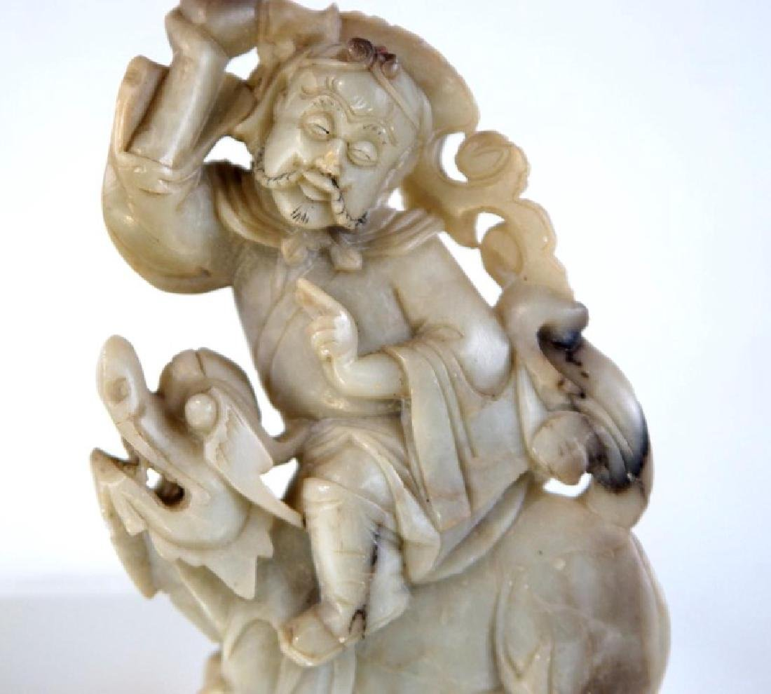 Pair of old Chinese Jadeite figures - 5