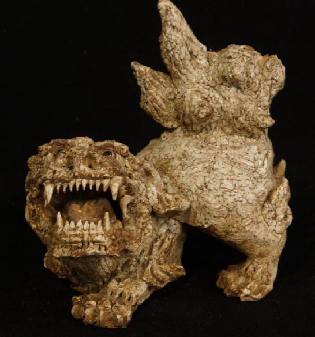 Antique Chinese Ceramic Foo Dog