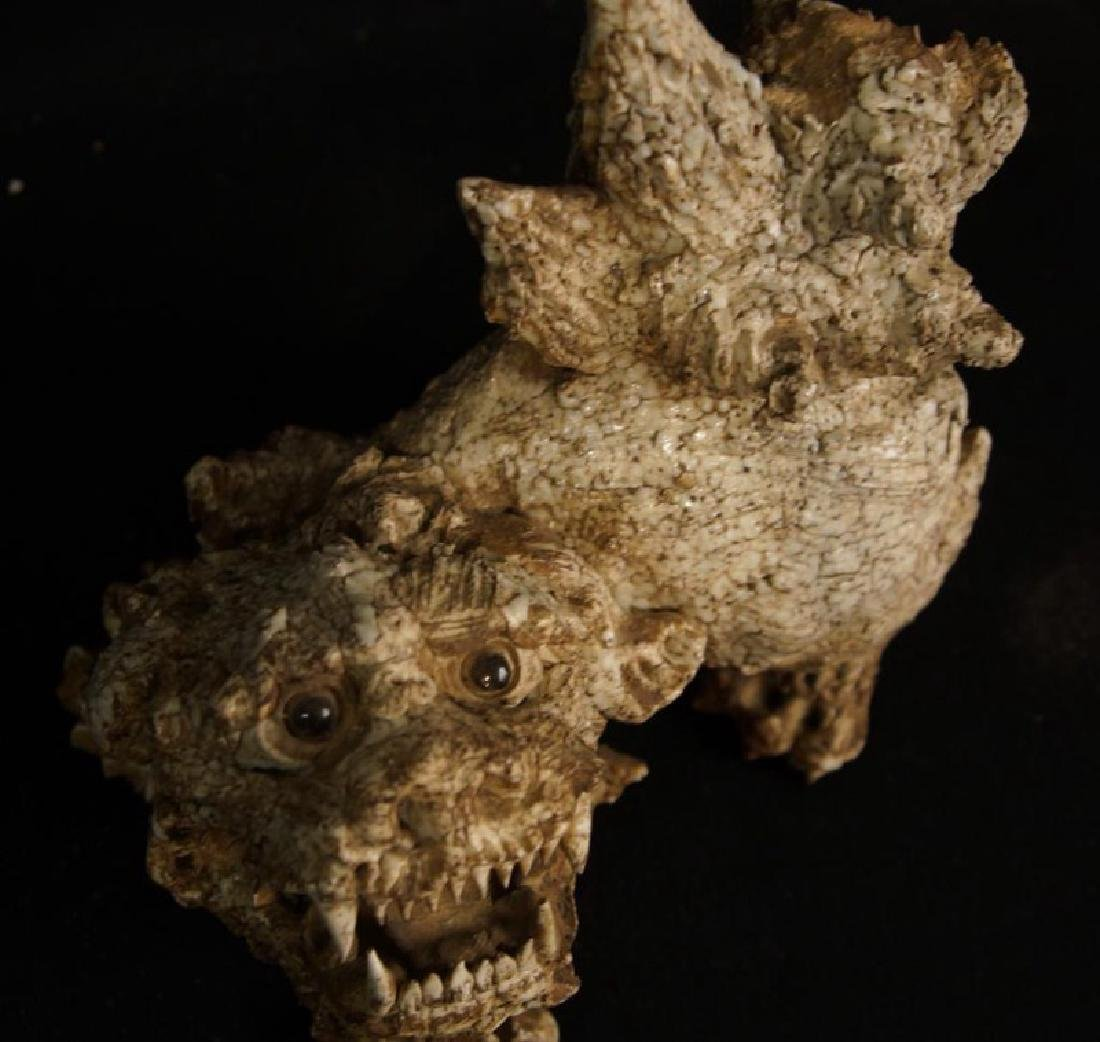 Antique Chinese Ceramic Foo Dog - 3