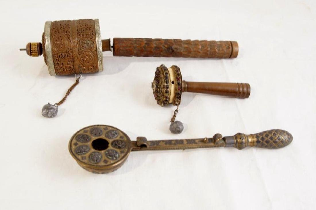 Tibetan prayer wheels - 3pcs - 7
