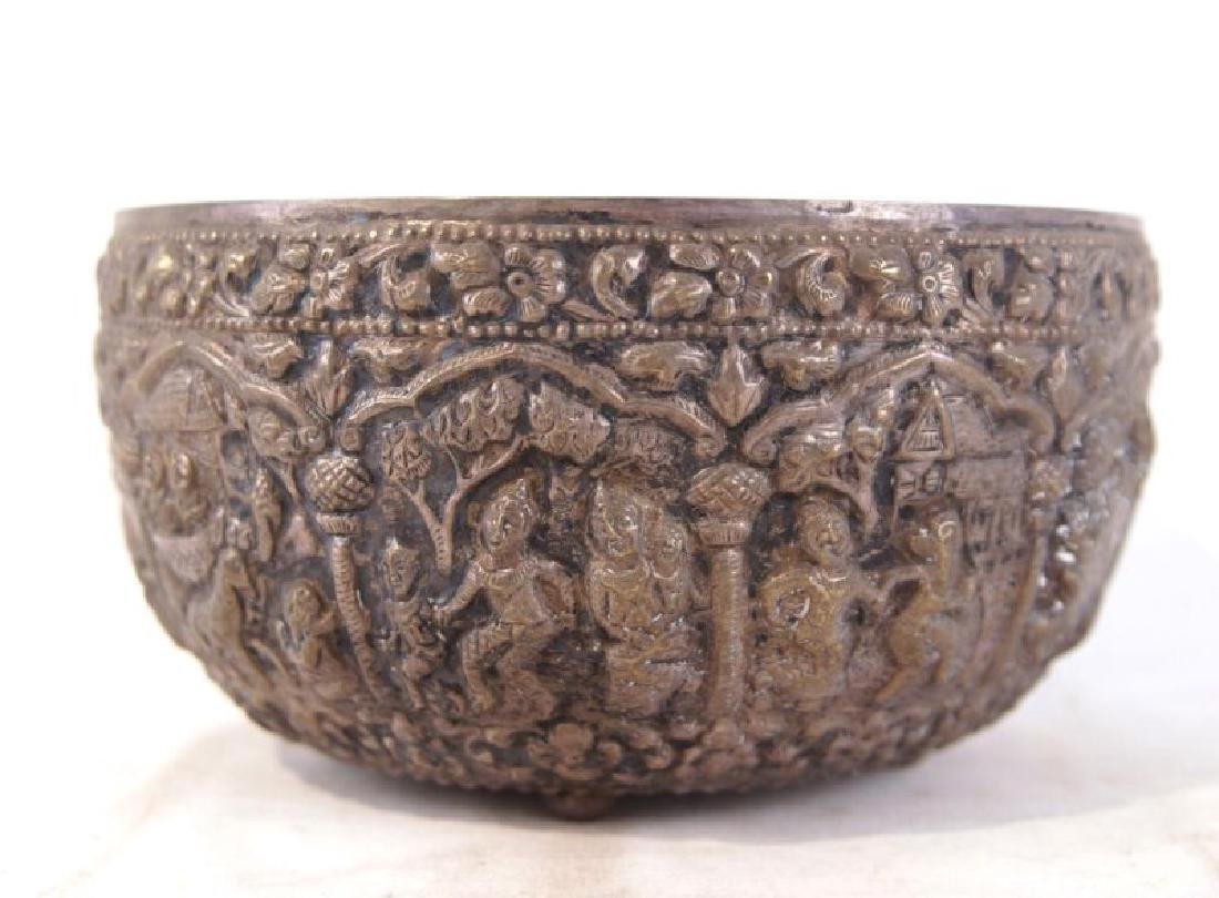 Silver bowl w figures