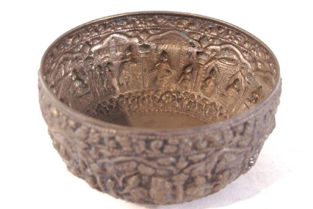 Silver bowl w figures - 5