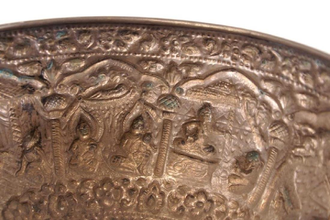 Silver bowl w figures - 6