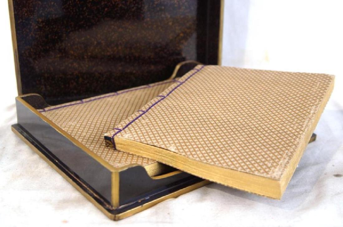Japanese Pillow book in lacquer box