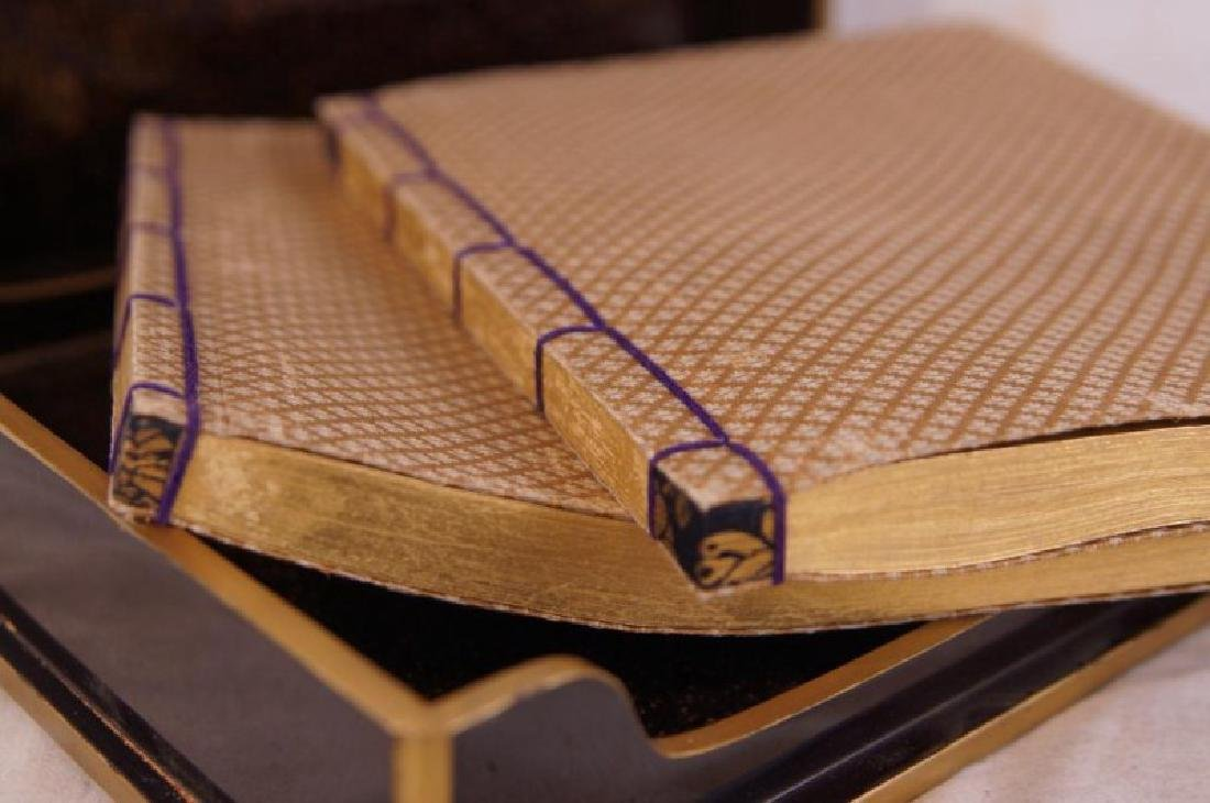 Japanese Pillow book in lacquer box - 7