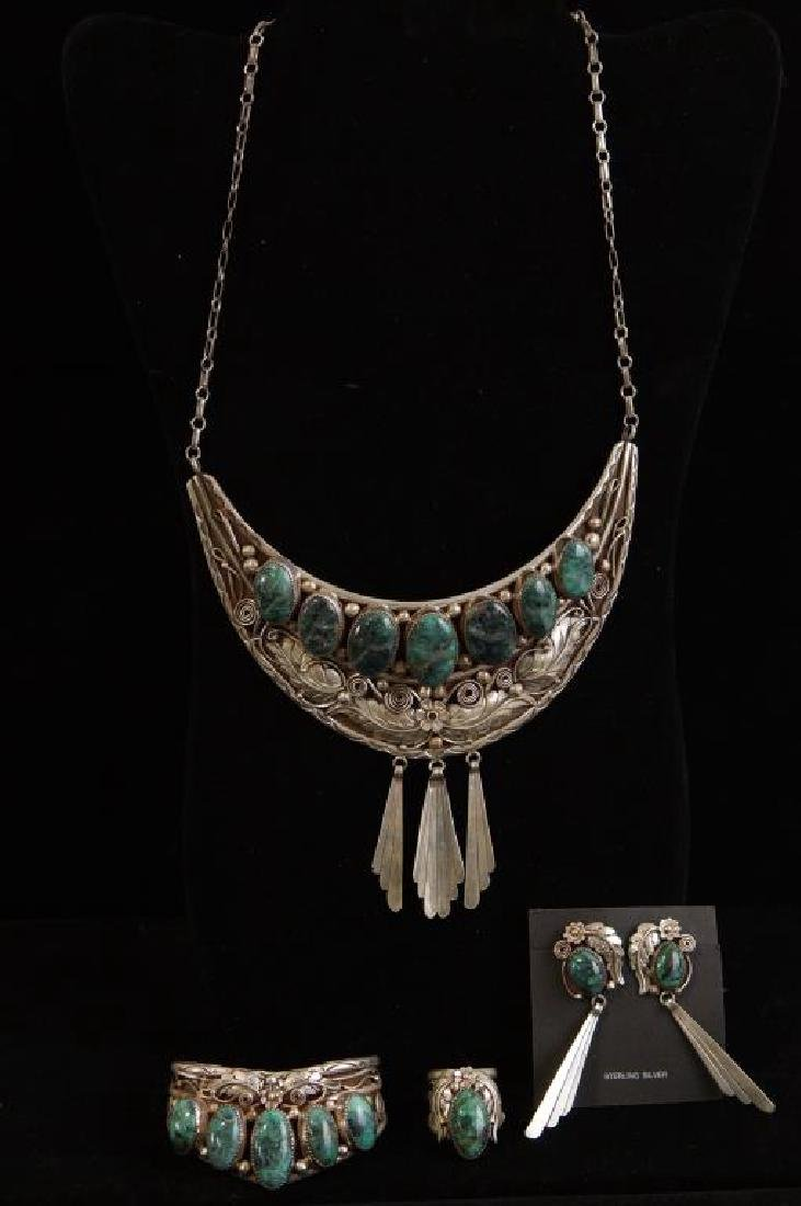 Native American turquoise & sterling 5 pc set