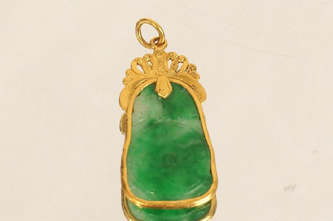 Jade Pendant with Gold Overlay