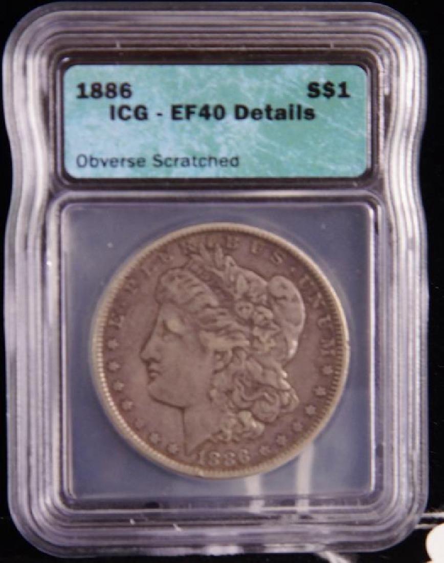 Morgan Silver Dollar EF 40 Scratch