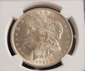 Morgan Silver Dollar MS 63 1921