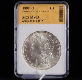 Morgan Silver Dollar MS 65 1898 O