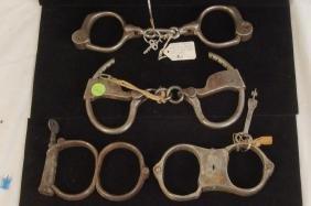 Collection of Antique Wild West Hand cuffs