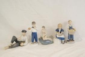 Royal Copenhagen Figurines (five)