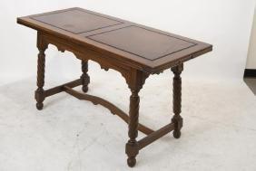 Spanish Revival Walnut Draw leaf table