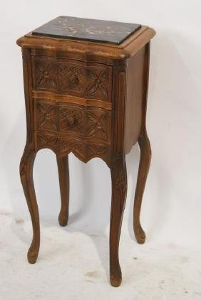 French style marble top nightstand