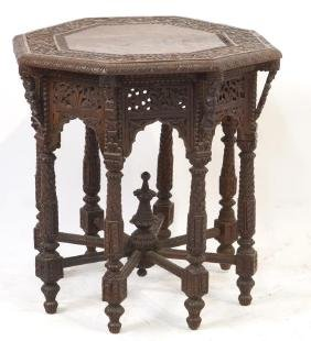 Moroccan carved Octagon table