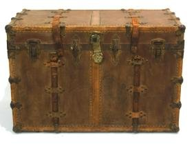 Antique McFarland family steamer trunk