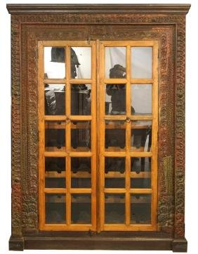 Spanish Colonial Carved wood wine cabinet