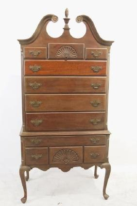 Queen Anne mahogany highboy