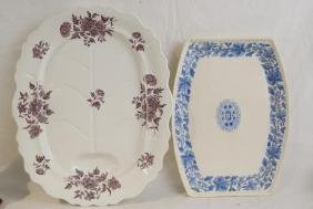 Two Ironstone & Copeland & sons English platters