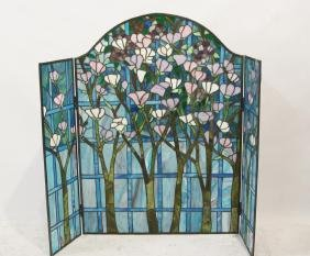 Stain Glass Fireplace Screen