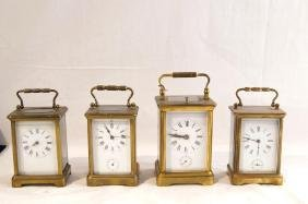 4 Antique carriage clocks