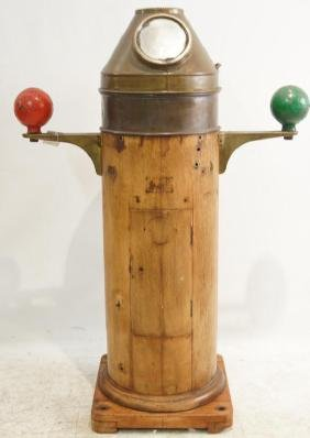 Antique Ship's Binnacle with compass