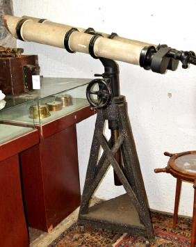 WWII Zeiss Ship's turret Binoculars on Stand