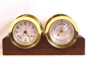 Seth Thomas ship's clock & barometer