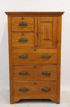 American Oak highboy