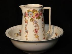 English porcelain Pitcher Bowl Set