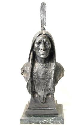 Max Bachmann (1862 - 1921) Bronze - Indian