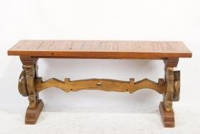 Rustic Oxen Stock console table