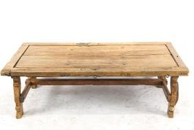 Spanish door top coffee table w iron hardware
