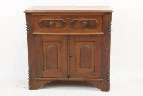 19th cent walnut Chest commode