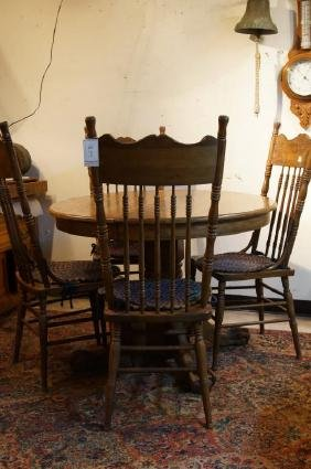 American Oak table & 4 chairs