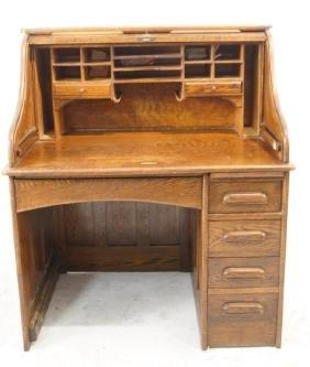 Antique Roll top desk & chair