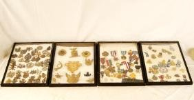 Four Cased Military Badges & Medals