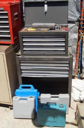 All American 2- tier tool box with tools