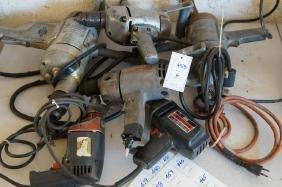 Six electric heavy duty drills