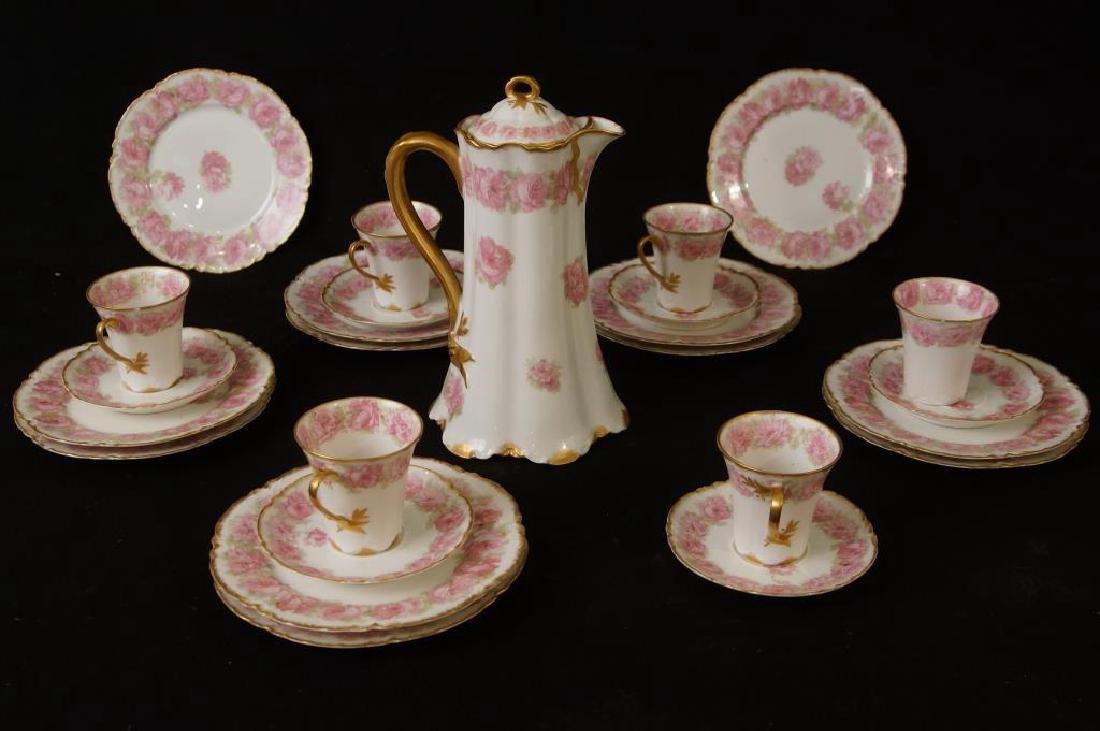 Haviland Limoges porcelain chocolate set