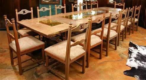 A Santa Barbara Crafted Table & Chairs circa 1930