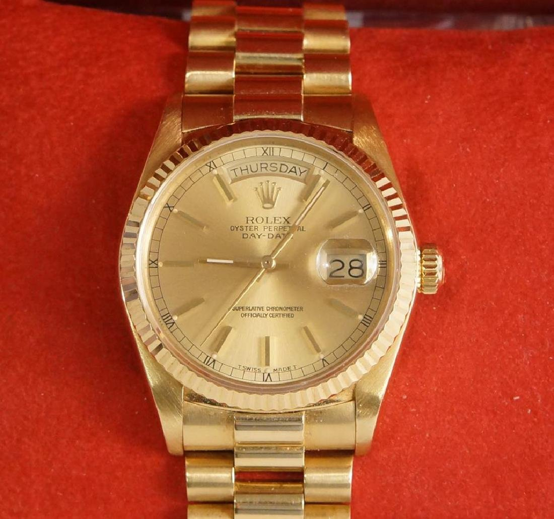 Rolex 18k Gold President w original box & papers