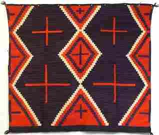 """Germantown """"Moki """" Revival wearing blanket ca 1880-90"""