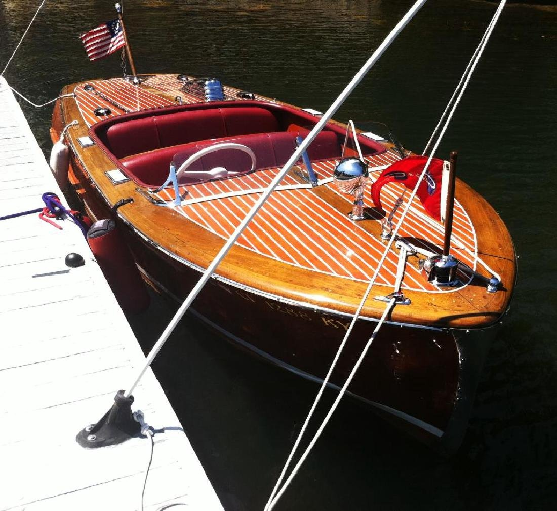 "Rare 1948 Chris Craft 17'6"" Runabout Boat"