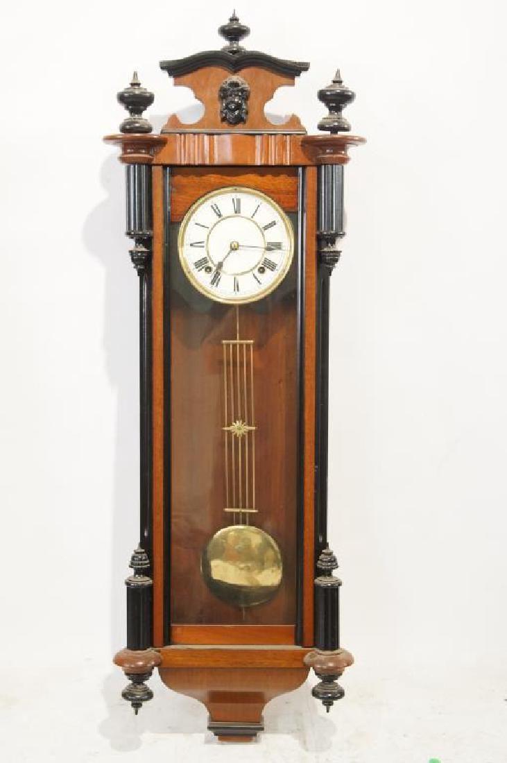 19 th c. Long drop Clock - Pendulum Wall Clock