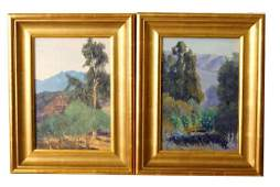 Pair Lockwood De Forest Jr. Paintings
